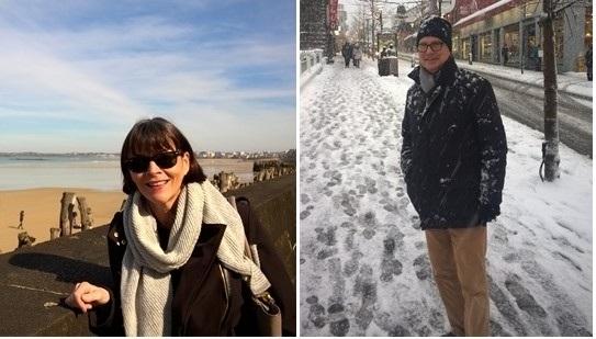 Patricia in Saint Malo, France & Lionel in Reykjavik, Iceland