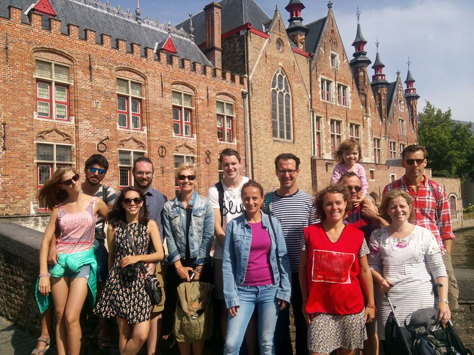 Nice Group in the Legends of Bruges FREE Walking tours.
