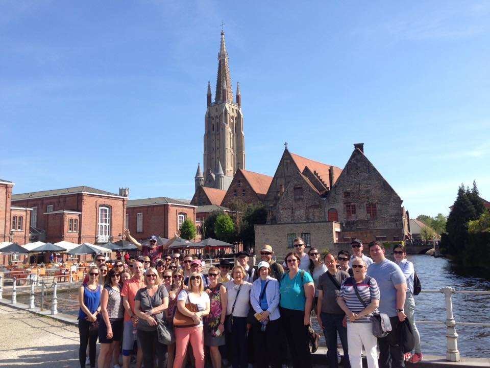 Sunny day in the Legends of Bruges Free Walking Tours.