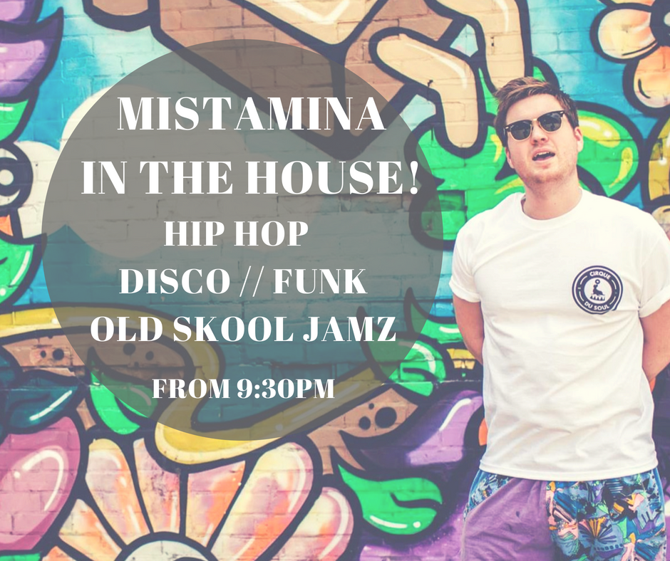 WE'RE HAVING A PARTY AND YOU'RE ALL INVITED..! Cirque du Soul's DJ MISTAMINA will be spinning a perfect soul-ection of Hip Hop, Disco, and Old-School jamz -- Free entry all night // Open 'til 3am --