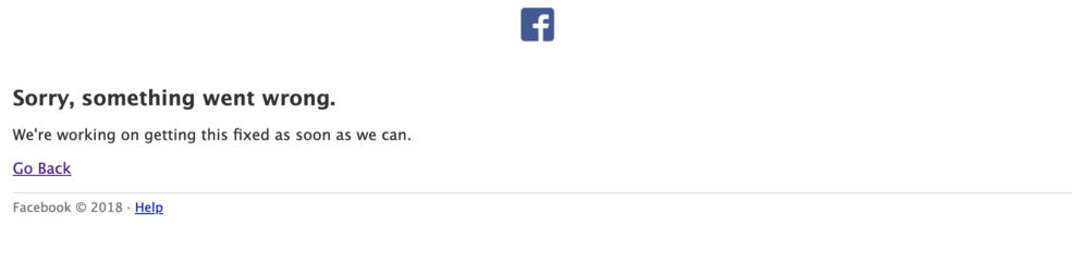 facebook outage error page march 2019 instagram and facebook down worldwide