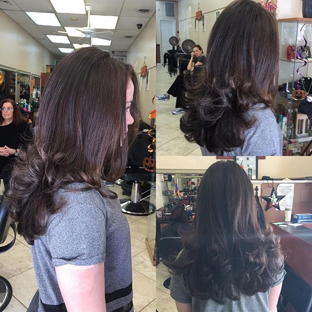 Sexy Blowout for this little lady for her confirmation !! Blowout done by Josette at our annadale location , wed,fri-sun