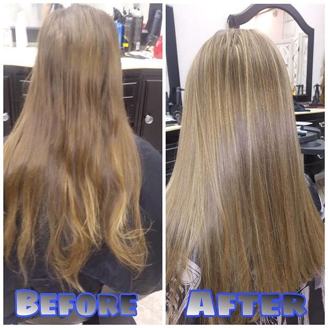 Before&After : Beautiful Full Highlights and Haircut done by our talented new stylist Dita at our annadale location!! Call or walk in today! (Check us out on groupon for great prices !!! ) #lookgoodfeelgood #hairexpress #haironearth