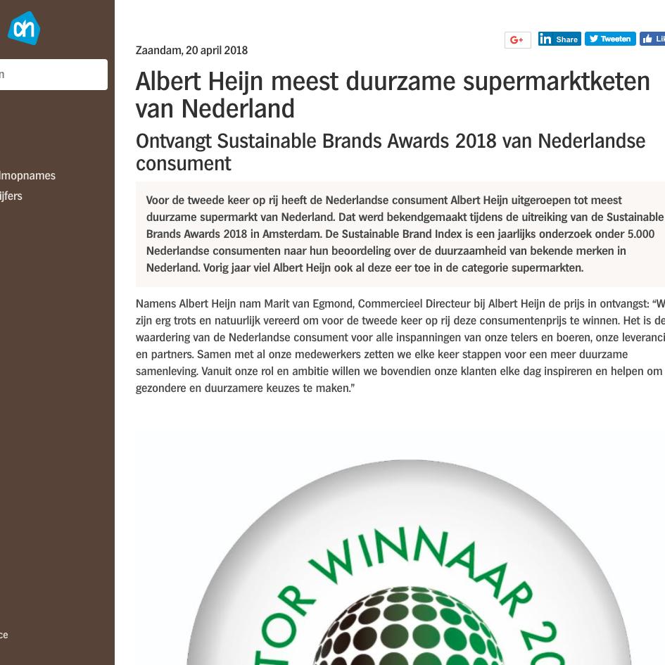Albert Heijn Pers, 2018