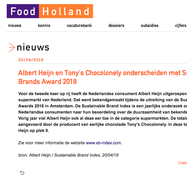 Food Holland, 2018