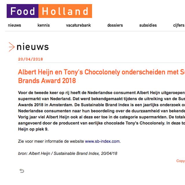 Food Holland, 2018