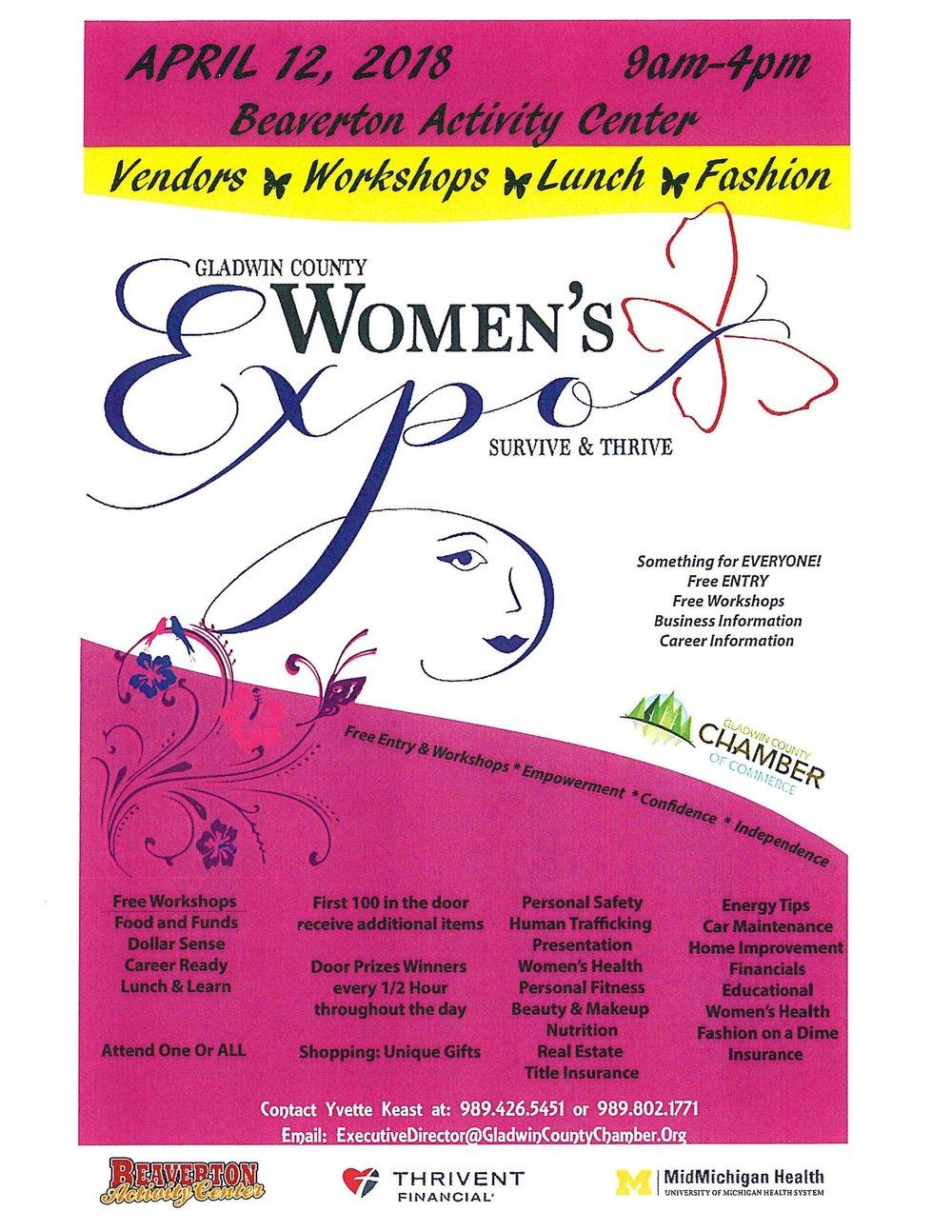 Gladwin County Women\'s Expo-FREE — Clare-Gladwin Great Start
