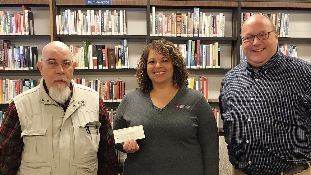 Pictured left to right are Tom Lovitt (President of Friends of the Library), Amy Pratt (Great Start Collaborative Coordinator), John Clexton (Gladwin County Libraries Director).