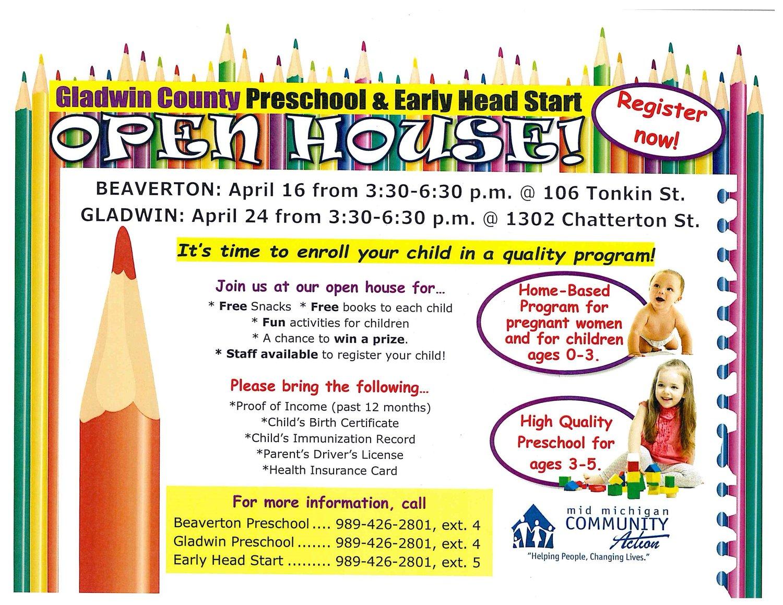 Gladwin County Preschool Open House — Clare-Gladwin Great Start