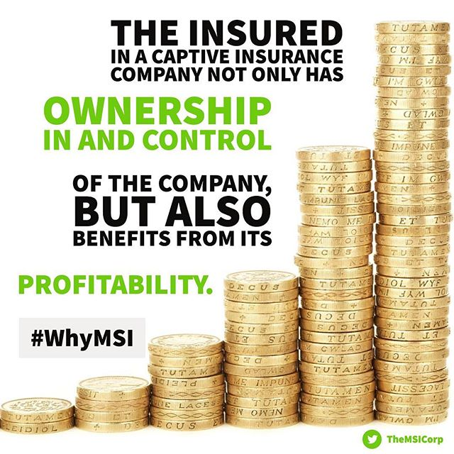 Make no mistake: The insurance in a captive insurance company not only has ownership and control, but the owner also benefits from its profitability. It's a win-win-win all around.💰 - Tags: #CaptiveInsurance #insurance #risk #riskmanagement #riskmgmt #WhyMSI #insurancenews #business #finance #professionalservices #tax #taxlaw #taxes #risksolutions #privateinsurance #cic #nccia #IRS #smallbusiness #management