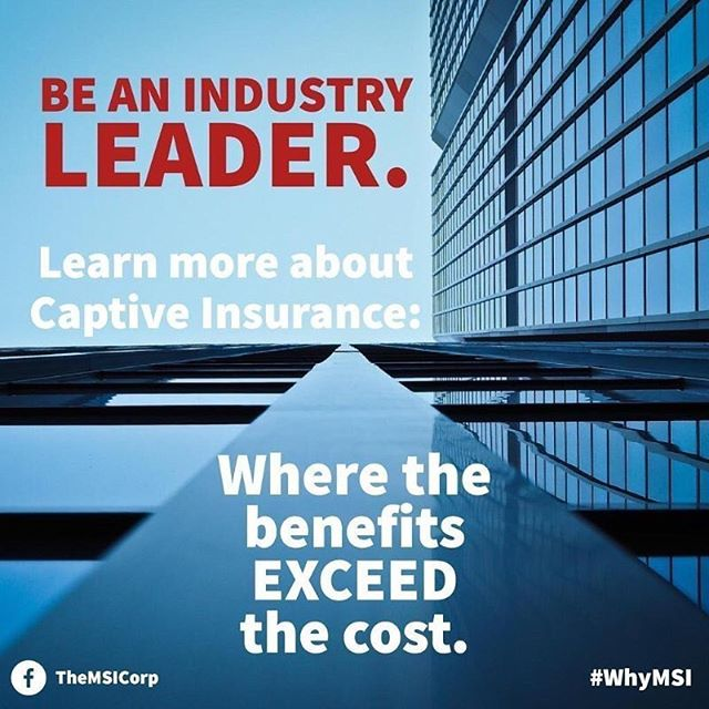 Industry leaders understand and take advantage of the benefits that a captive insurance company provides. Now you can be one too. Visit TheMSICorp.com to learn more. - ☎️: (833) INS-RISK ✉️: info@themsicorp.com - Tags: #CaptiveInsurance #insurance #risk #riskmanagement #riskmgmt #WhyMSI #insurancenews #business #finance #professionalservices #tax #taxlaw #taxes #risksolutions #privateinsurance #cic #nccia #IRS #smallbusiness #management