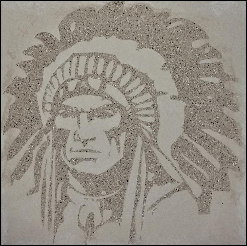 Graphic Concrete at Hononegah High School in Rockton, IL