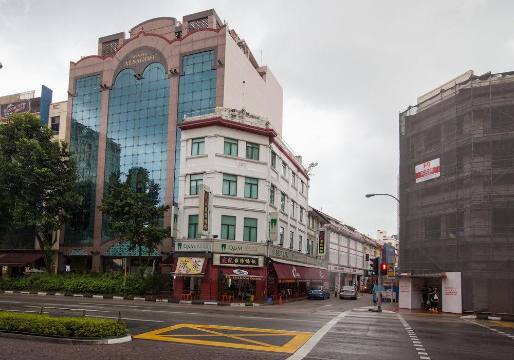 Wisma Alsagoff Building (left) along North Bridge Road