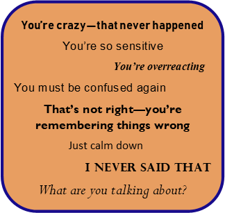 Gaslighting graphic