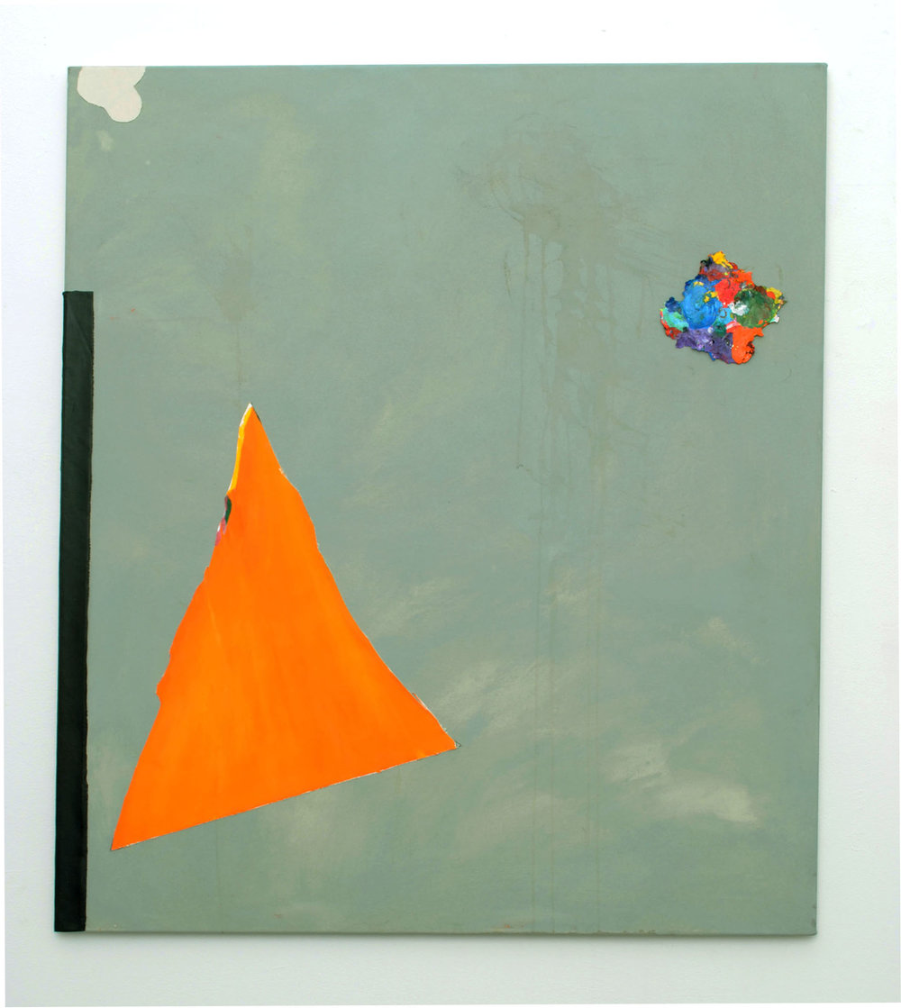 Untitled (orange triangle), 2011