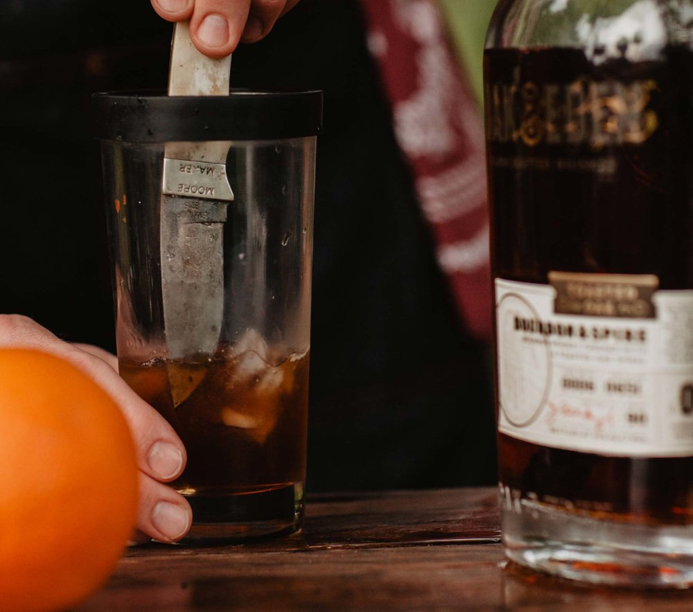 Smokey Old Fashioned Cocktail Labor Day Recipe Oak & Eden Orange Peel Corey Woosley