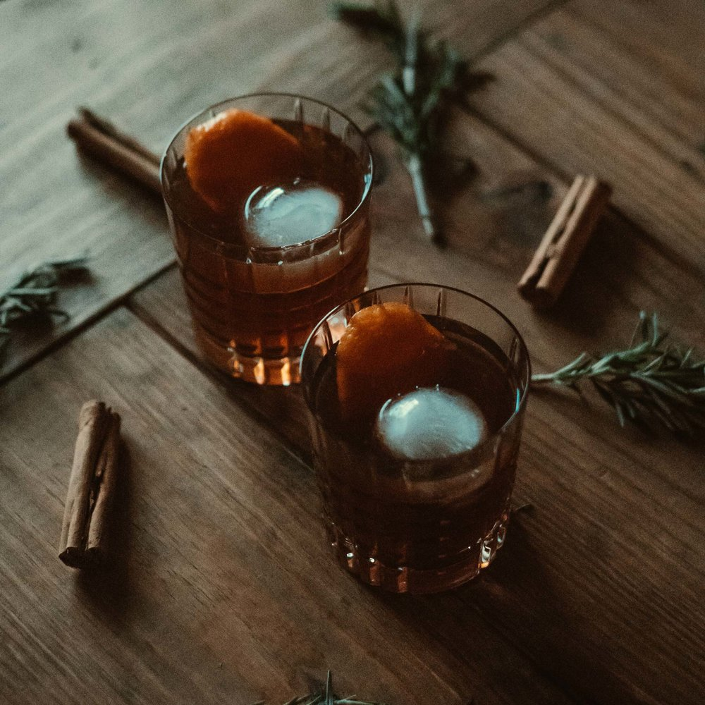 Cinnamon Rosemary Old Fashioned