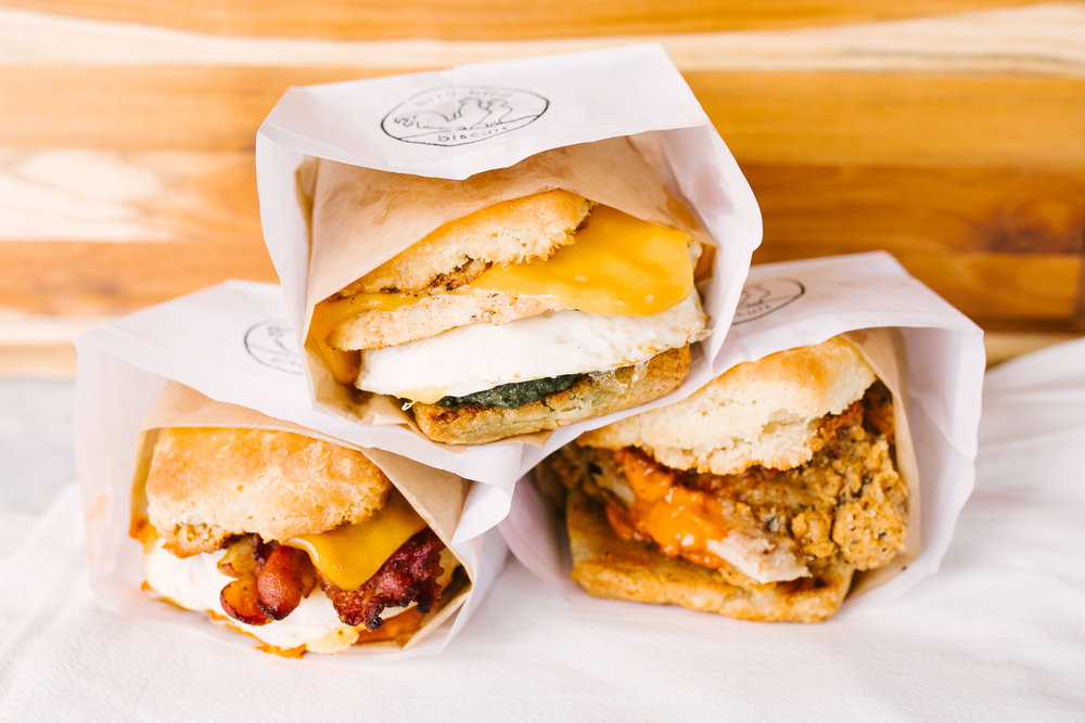 OPENINGSPRING 2018 - From East Austin natives, Chef Brian Batch and Ryan McElroy. We're looking to bring the fun and love of biscuit sandwiches to Manor Road!