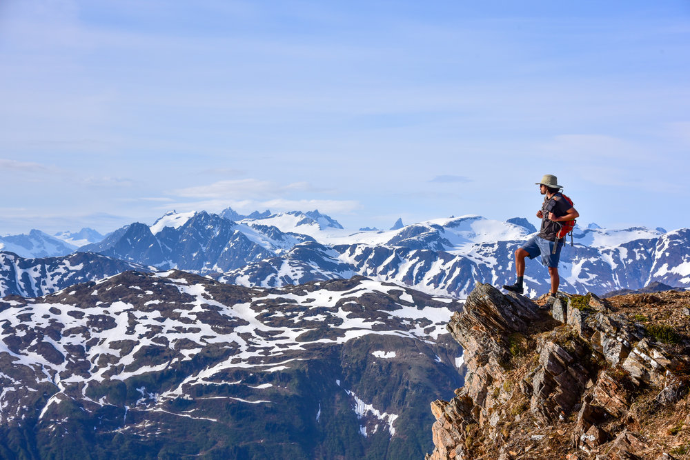 My friend Andy, atop Mt. Juneau