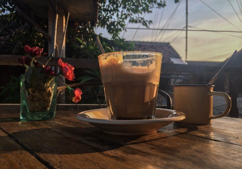 Evening coffee enjoyed in Ubud, Bali