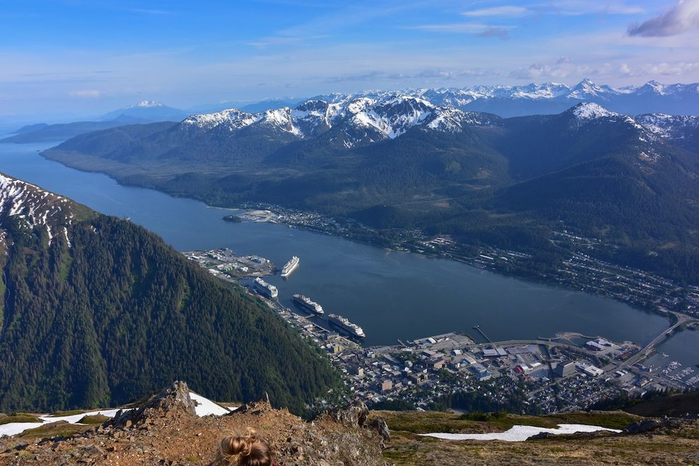 Downtown Juneau, seen from the summit of Mt. Juneau