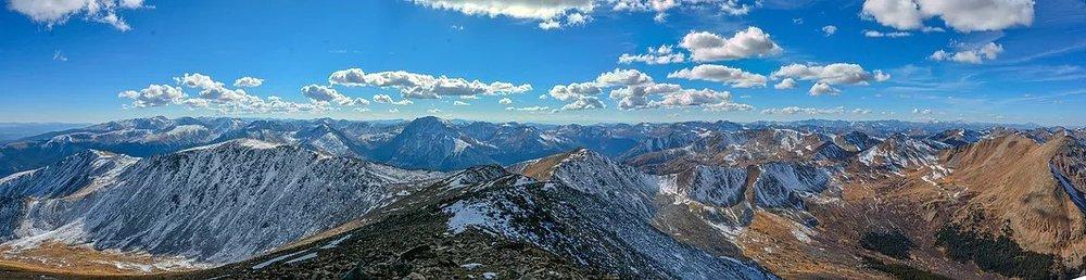 The summit of Mt. Elbert, Colorado's tallest peak.