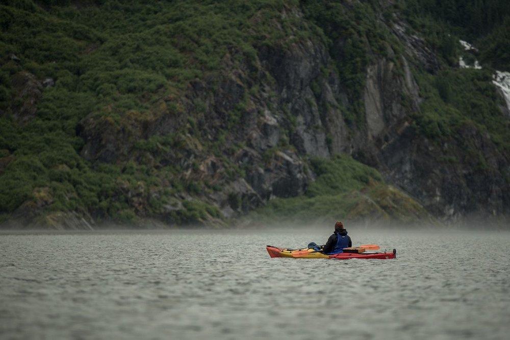 Kayaking Mendenhall Lake