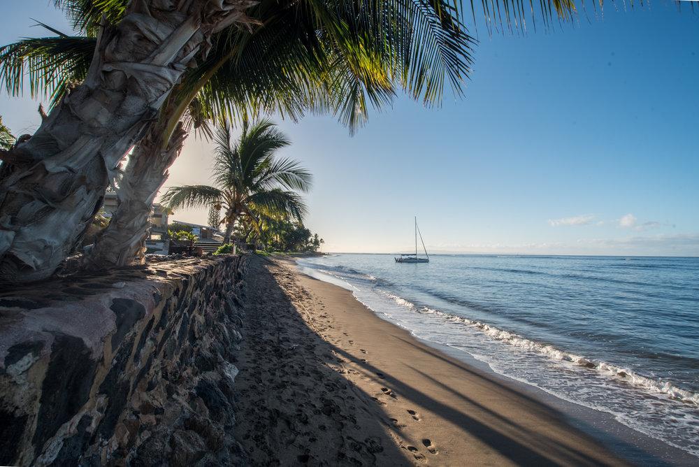 The sun rising over Shark Pit Beach, Maui