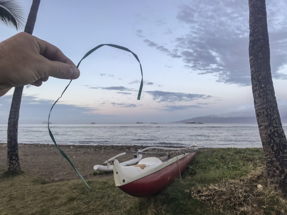Balloon strings despoil the scenery
