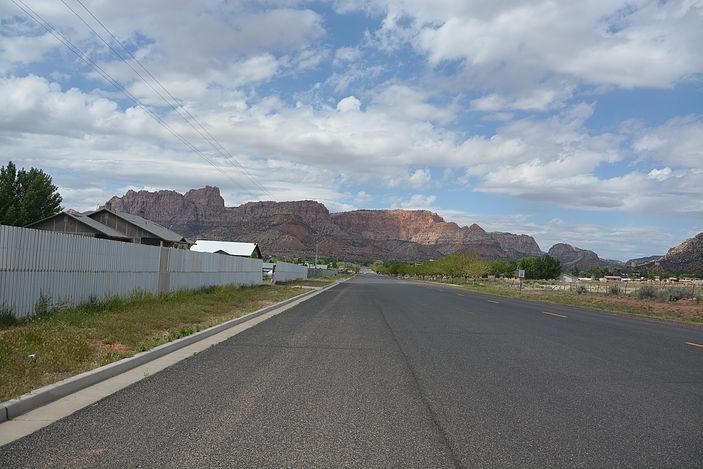 A street in Colorado City, Arizona