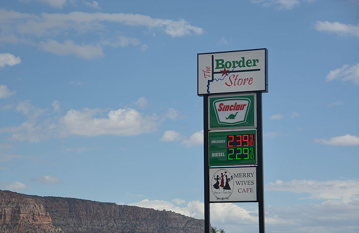 Hmmmm, what looks interesting here? It's not the gas prices.