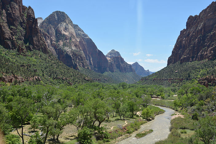 The Virgin River, flowing through Zion National Park