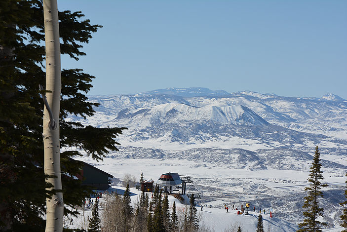 View of Sleeping Giant from Steamboat Ski Area