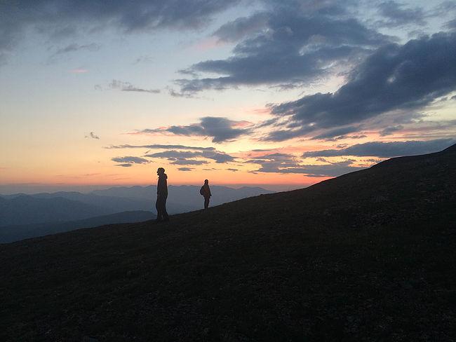 Atop Carlo Mountain, as the sun set
