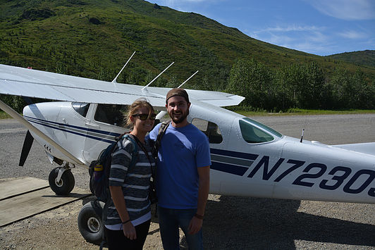 Kelly and I, after flying in to Kantishna