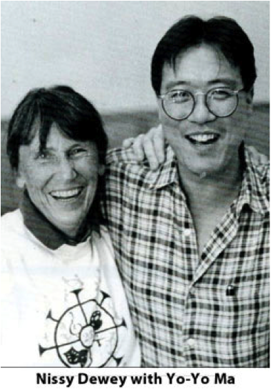 Nissy Dewey with Yo Yo Ma