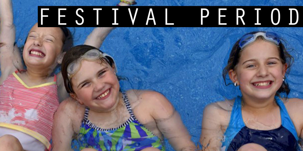 - Festival periods present new choices each day for campers to explore, experiment, and enjoy. Swimming, sports and arts activities are offered daily.