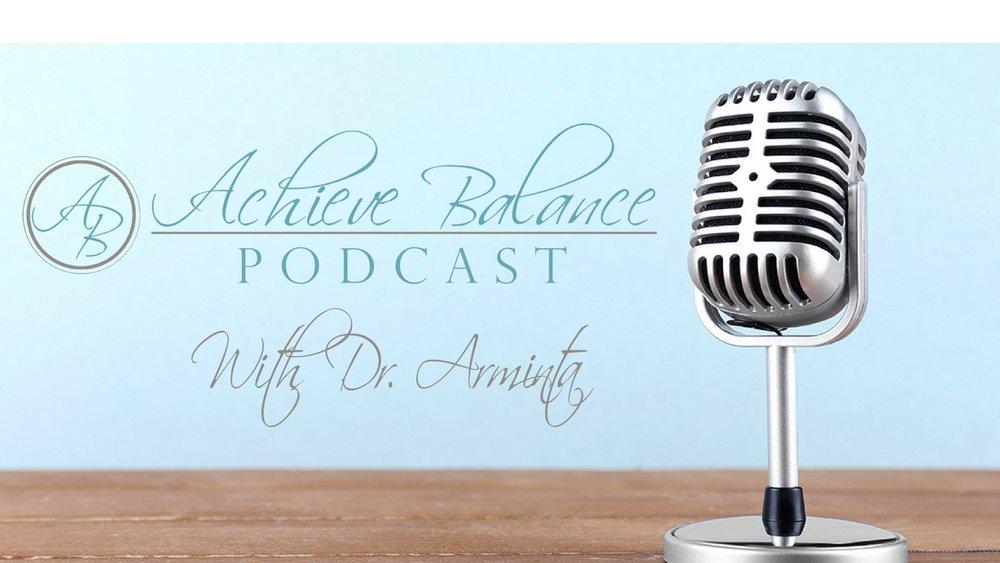 Achieve Balance Podcast microphone