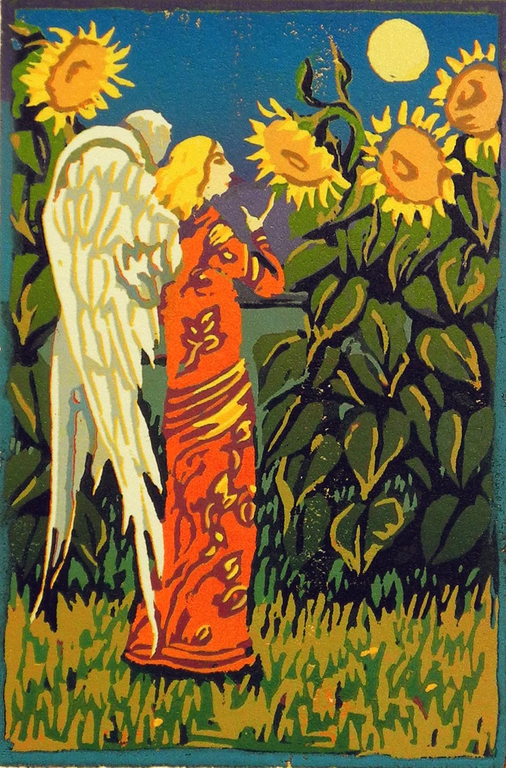 Sunflower Evening Angel