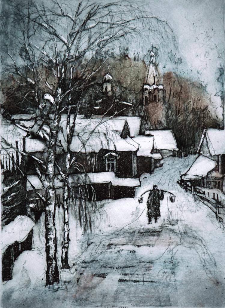 Landscape with Babushka