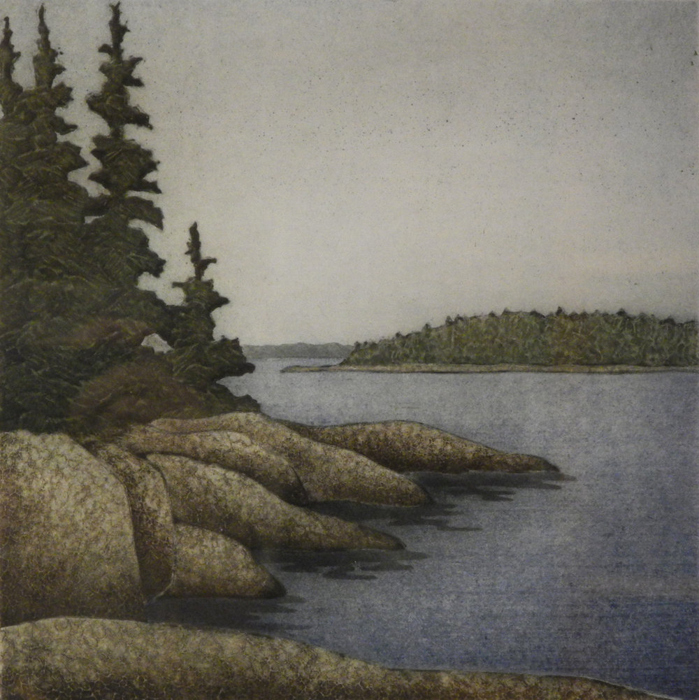 Stone, Spruce, Sea