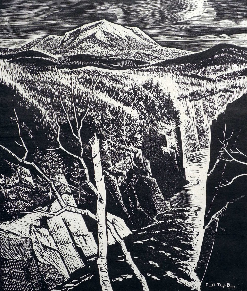 Carroll Thayer Berry, Katahdin from Ripogenus Gorge (SOLD)