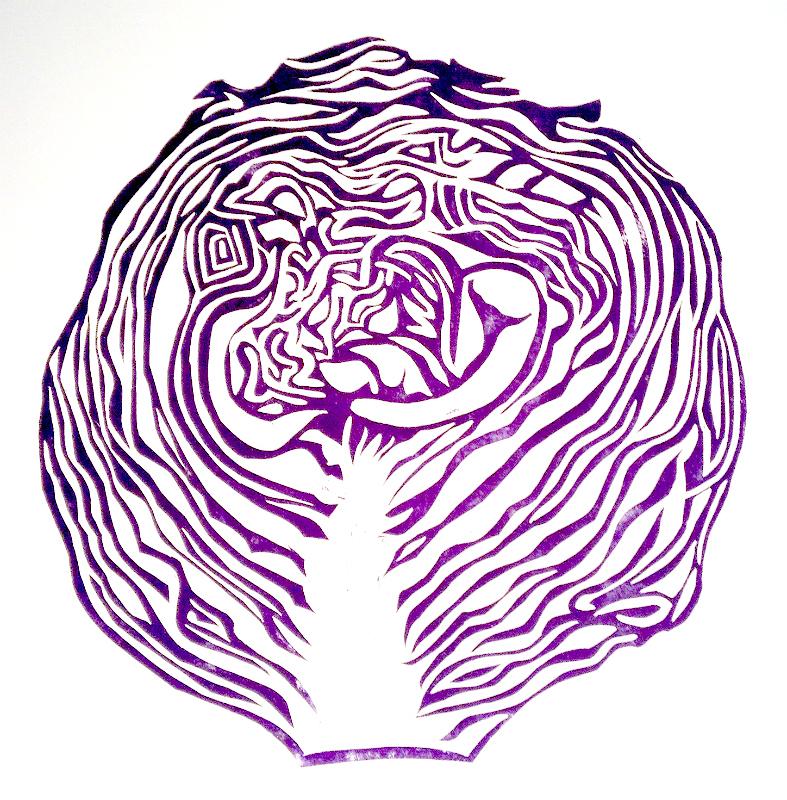 Purple Cabbage Labyrinth