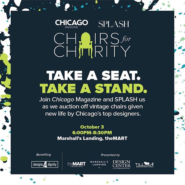 Can't wait for this years event! Get your tickets for Chairs for Charity on 10/3 at Marshall's Landing! Ticket link in bio - www.chicagomag.com/chairs