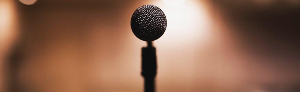 Black microphone  by freestock.org  CC-0