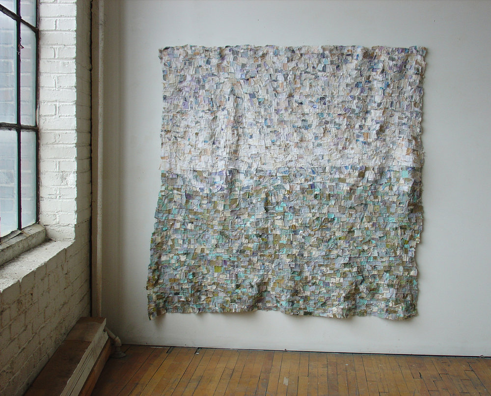 Grey Rain Sea , 152 x 157 cm