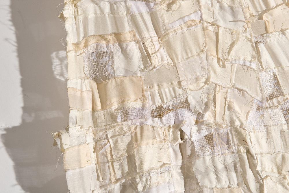 White Rag Quilt , detail