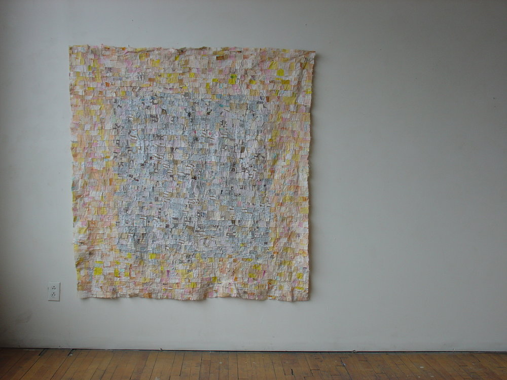 Blue square ,145 x 145 cm
