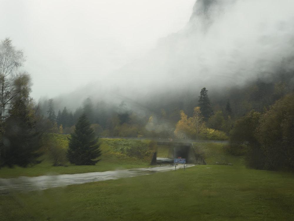 Pluie. Aire de repos des Neyrolles.
