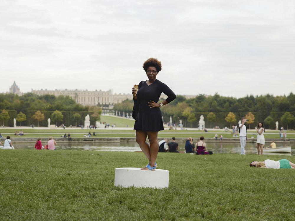 Versailles Femme à la glace.